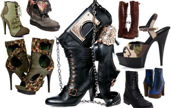 Обувь в стиле милитари - яркий
